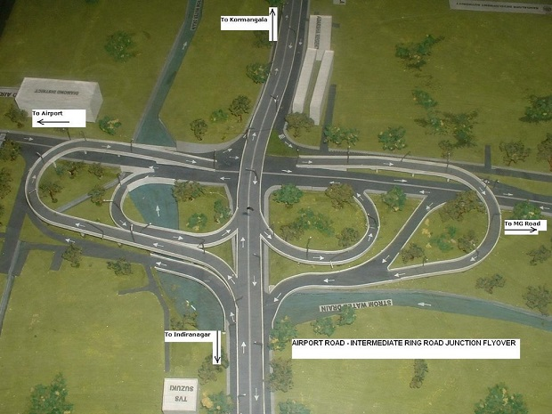 traffic intersection flyovers Bangalore