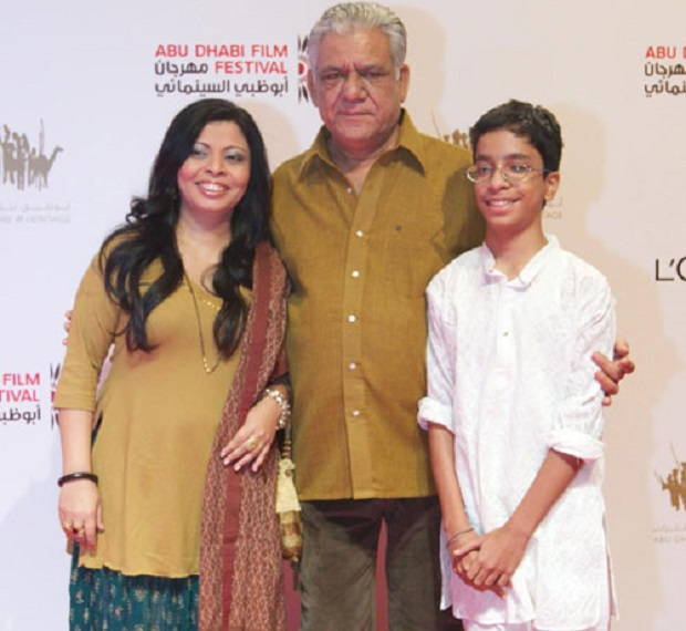 om-puri-with-second-wife-nandita-and-son-ishaan